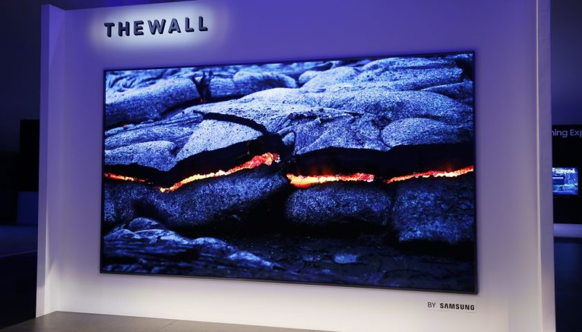 """Samsung Unveils """"The Wall,"""" the World's First Modular MicroLED 146-inch TV"""